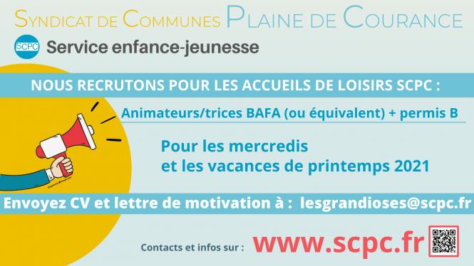 Annonce de recrutement SCPC